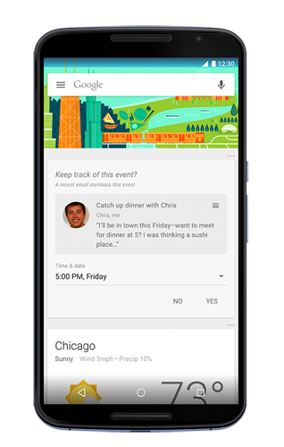 Google Now Event Reminders