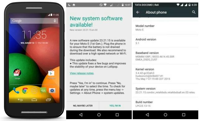 Moto E Android 5.1 soak test