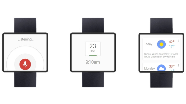 Google smartwatch mockup