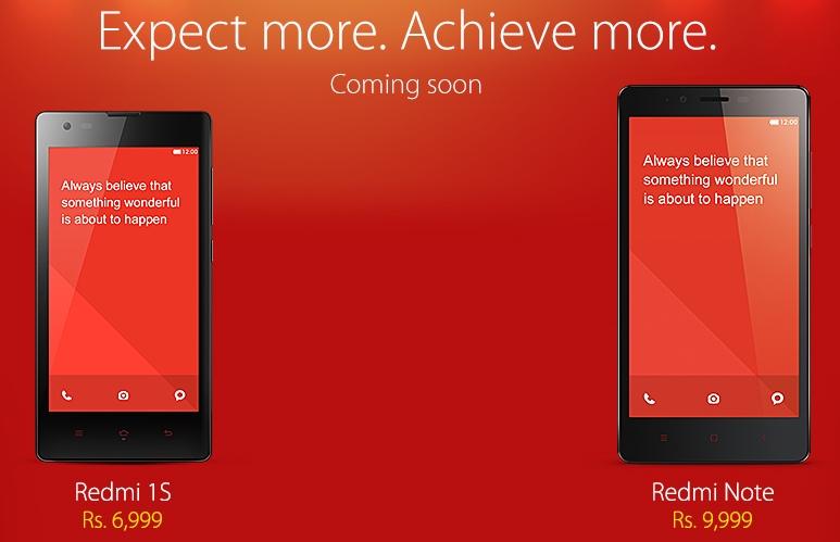 Xiaomi Redmi 1s and Note