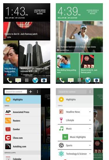 HTC Blinkfeed in Sense 6.0