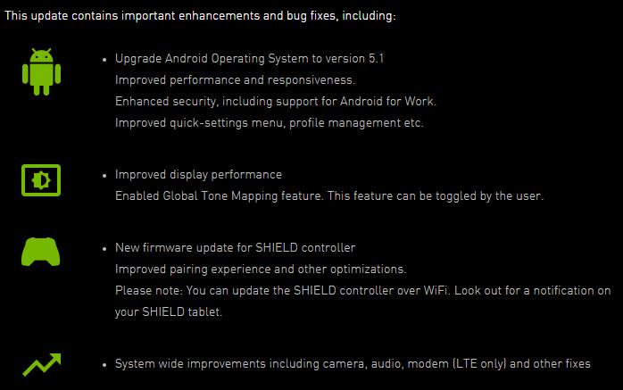 SHIELD Tablet update