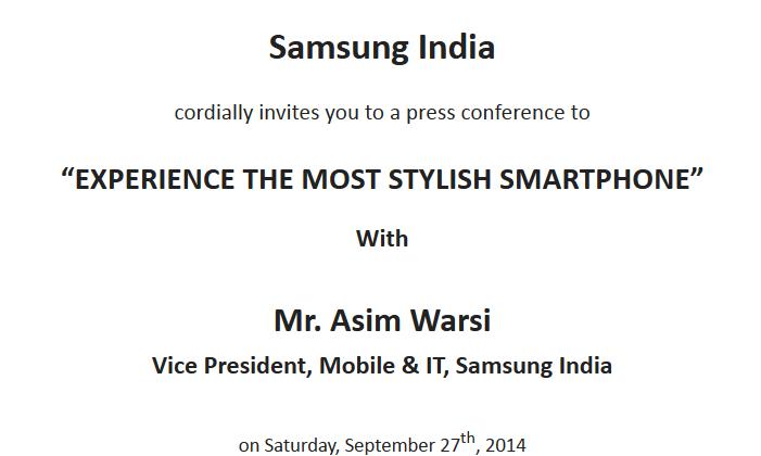 Media Invite from Samsung