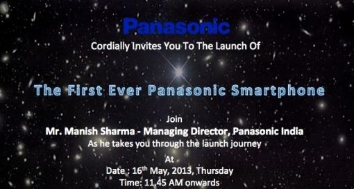 Panasonic P51 launch invite