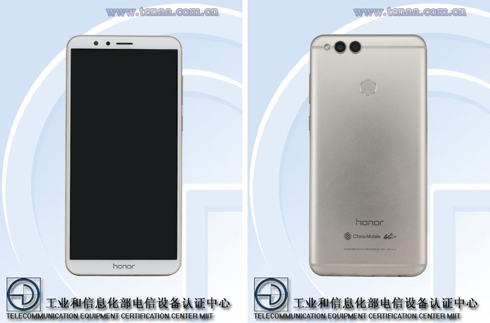 Honor 7X images from TENAA