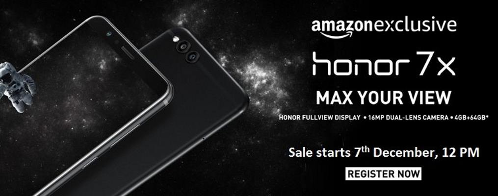 Honor 7X at Amazon India