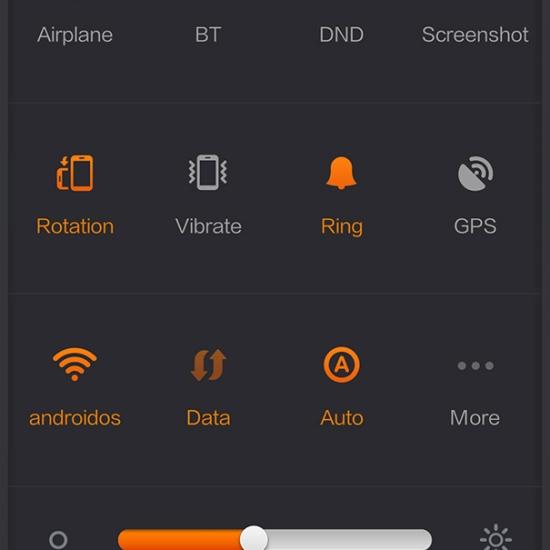 Xiaomi Mi 3 Quick Settings