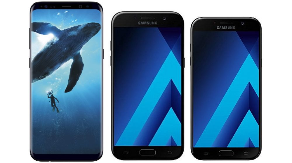Samsung Galaxy S8 Plus, A5 (2017) and A7 (2017)
