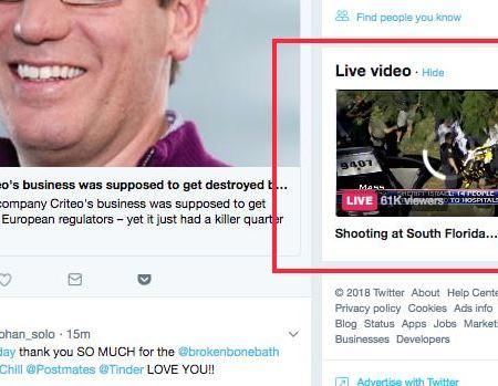 Twitter Live News Video