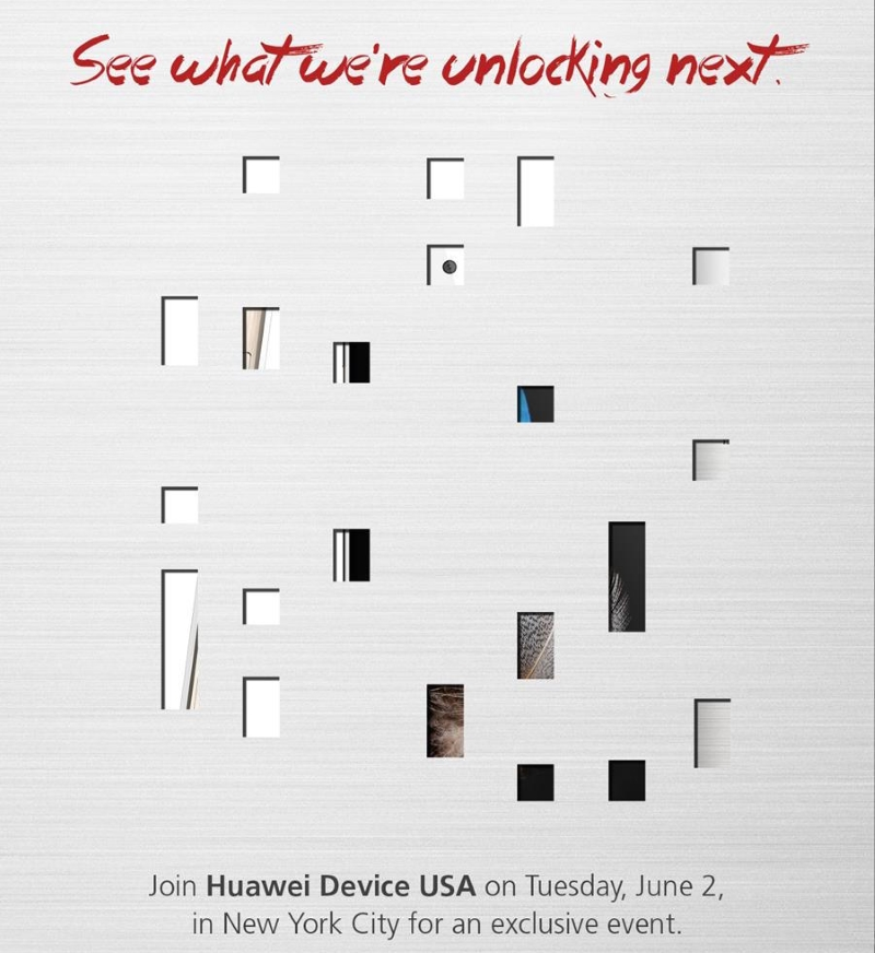 Huawei invite for June 2 event