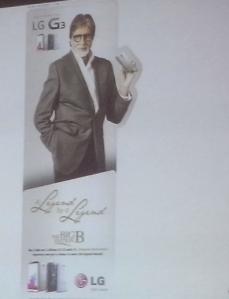 LG G3 with Amitabh Bachchan
