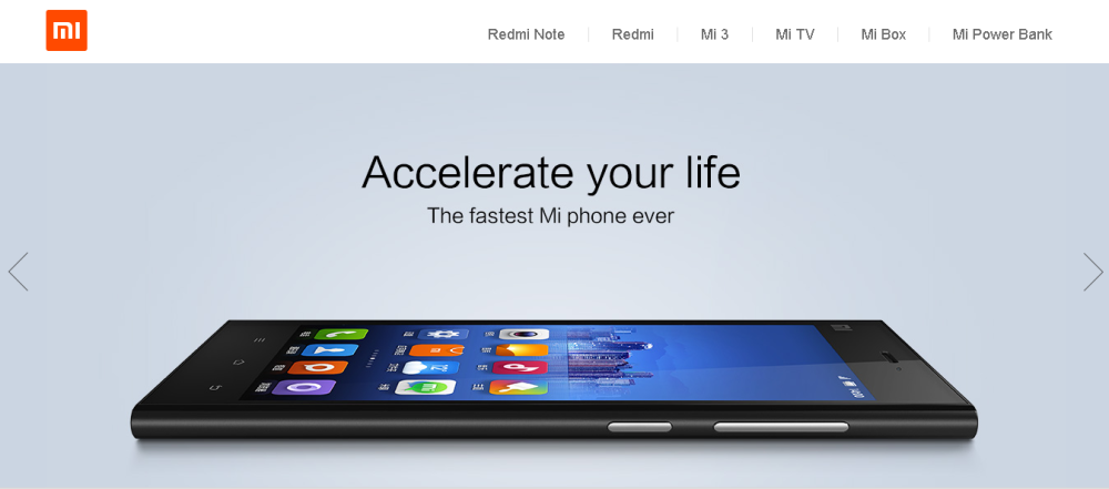 Mi.com screenshot