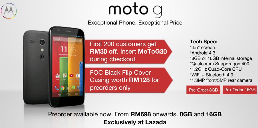 Moto G in Malaysia