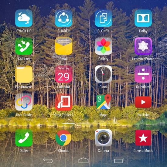 Lenovo Yoga Tablet 2 Screenshot