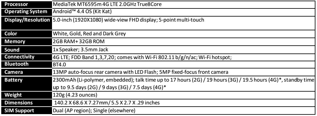 Lenovo Vibe X2 specs