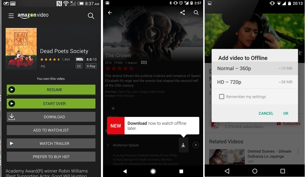 Android offline video