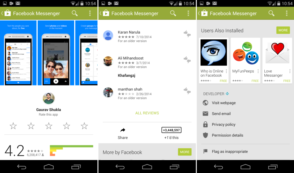 Google Play Store 4.9.13 Listing