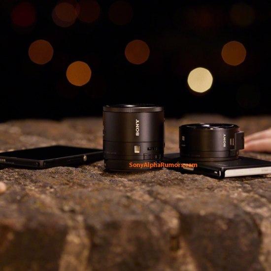 Sony DSC-QX100 DSC-QX10 Lens Cameras