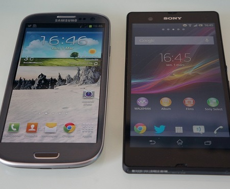 Samsung Galaxy S III and Sony Xperia Z
