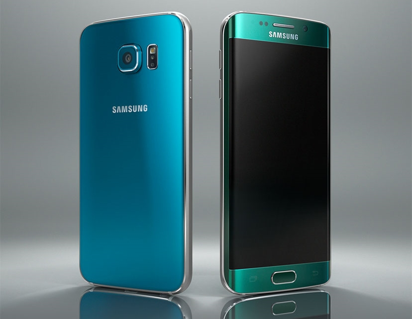 Samsung Galaxy S6 and S6 edge in Blue and Green