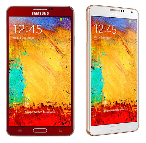 Samsung Galaxy Note 3 Red and Rose Gold