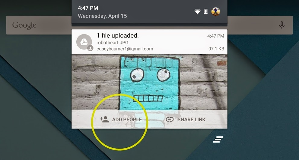 Google Drive Android app update