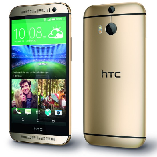HTC One M8 in gold