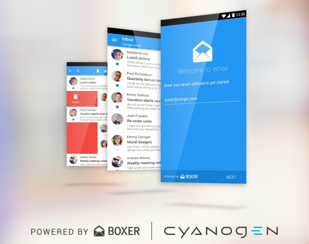 Cyanogen Email app