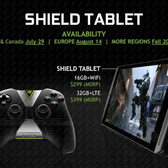 NVIDIA SHIELD Tablet pricing