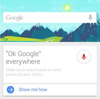 Ok Google everywhere mockup