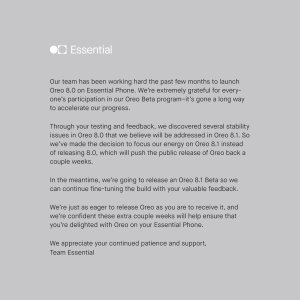 Statement from Essential