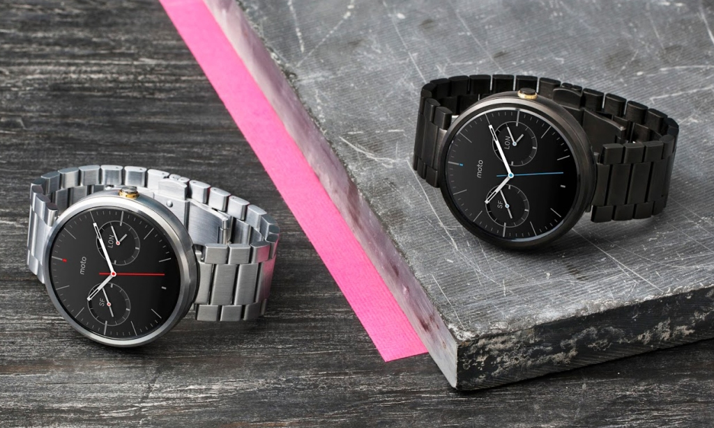 Moto 360 with Metal bands
