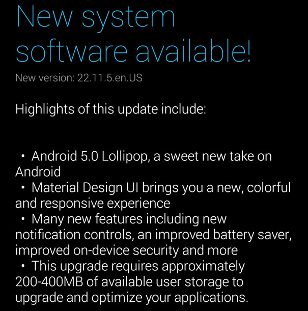 Moto X 2014 Android 5.0 Soak test