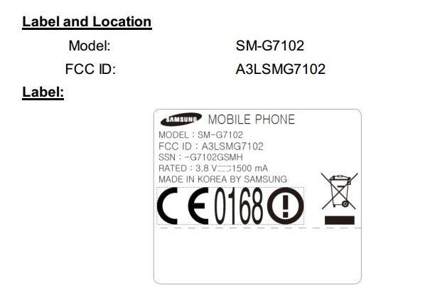 Samsung SM-G7102 FCC