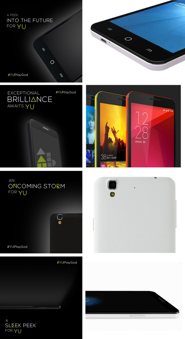 Yu teasers and Coolpad F2 4G