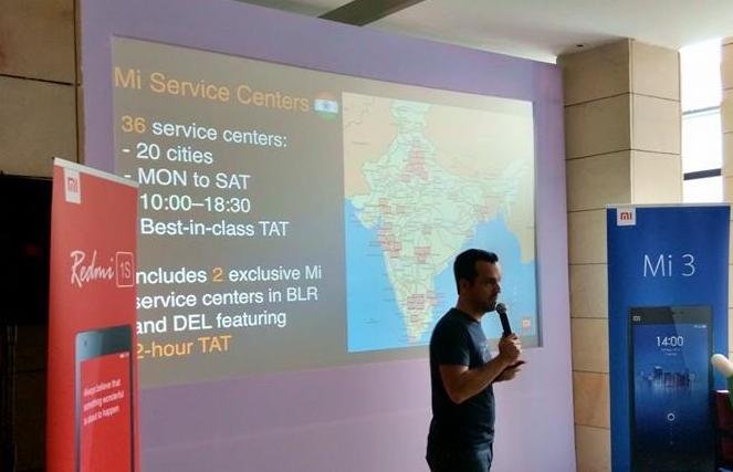 Xiaomi India service support