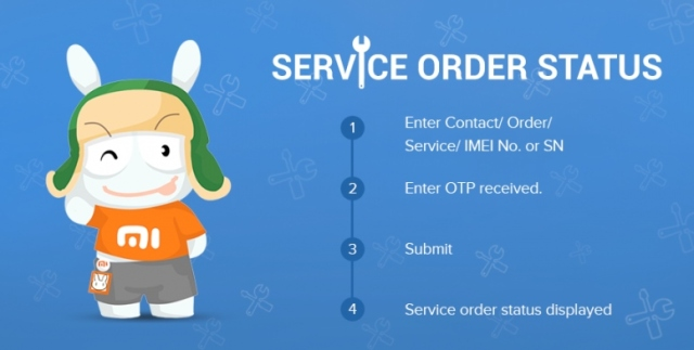Xiaomi India online service request tracking