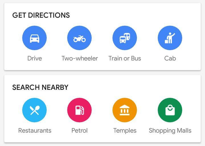 Google Maps motorcycle mode