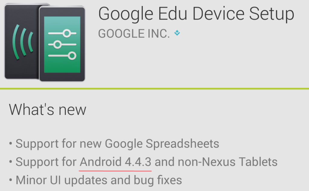 Google Edu Device Setup change-log