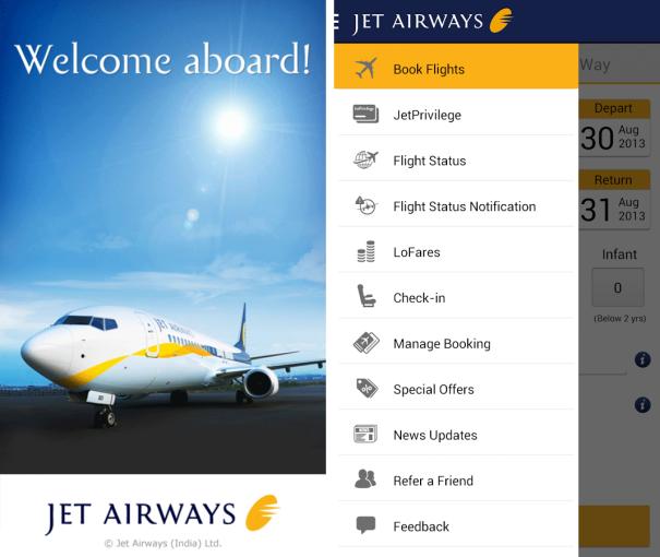 Jet Airways Android app