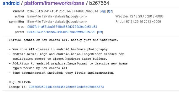 New Android camera API