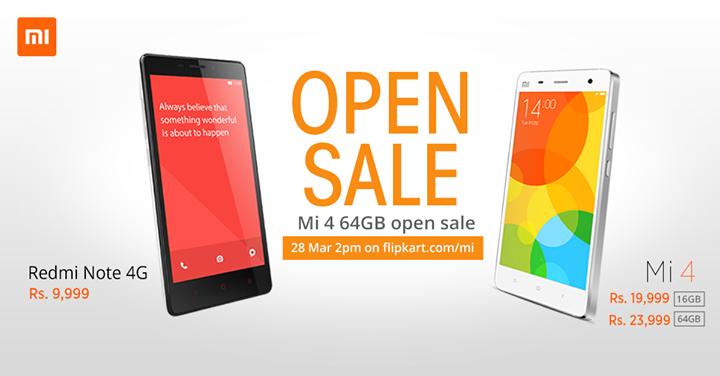 Mi 4 64GB open sale