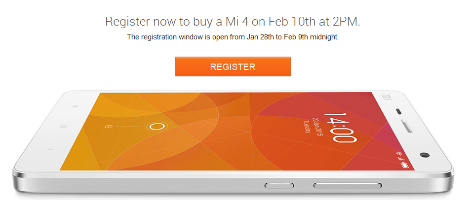 Xiaomi Mi4 at Flipkart