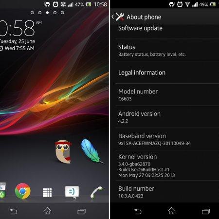 Sony Xperia Z Update