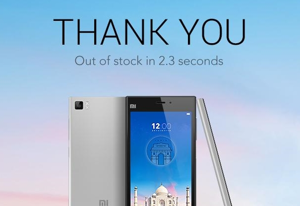 Xiaomi Mi 3 out of stock