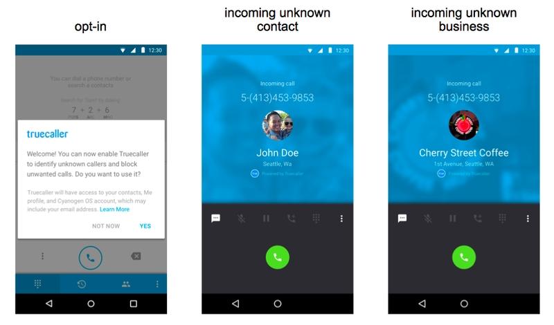 Truecaller integration in Cyanogen OS
