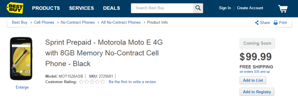 Moto E (2nd Gen)
