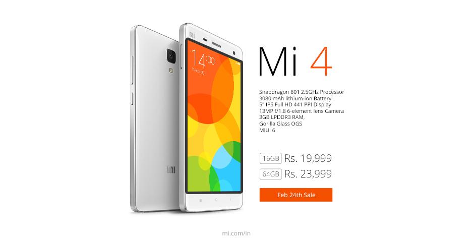 Xiaomi Mi 4 sale