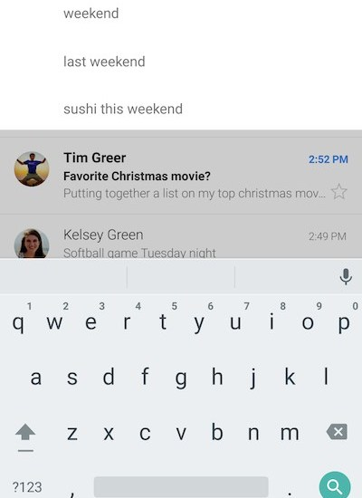 Smart Search in Gmail