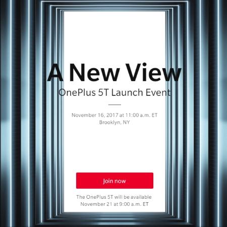 OnePlus 5T November 16 launch